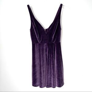 Anthropologie velvet holiday dress Small purple